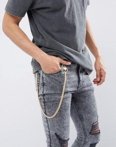 Золотистая цепочка для джинсов Chained & Able - Золотой