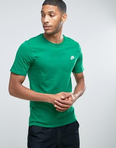 Зеленая футболка с вышитым логотипом Nike Futura 827021-302 - Зеленый