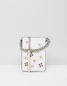 Маленькая сумка через плечо с декоративной отделкой ASOS - Белый