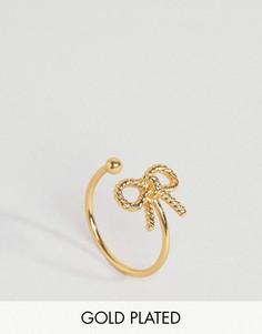 Кольцо с бантиком в винтажном стиле Olivia Burton - Золотой
