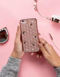 Золотисто-розовый чехол для iPhone 6/6S/7 с пчелой Skinnydip - Мульти