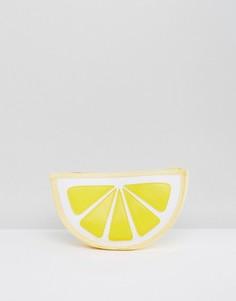 Соломенный пляжный клатч в форме лимона South Beach - Желтый