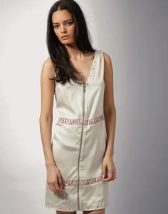 Платье-комбинация на молнии FIN Oslo эксклюзивно для ASOS - Розовый