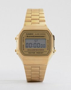 Позолоченные цифровые часы Casio A168WG-9EF - Золотой