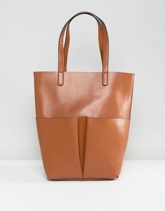 Коричневая сумка-тоут с карманом Glamorous - Рыжий
