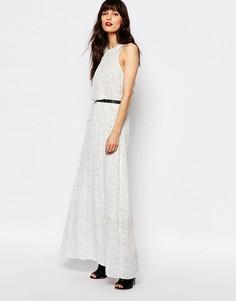 Платье макси с принтом Just Female Birch - Белый
