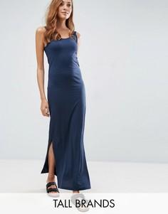 Трикотажное платье макси Vero Moda Tall - Темно-синий
