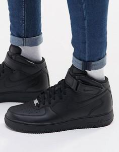 Черные кроссовки Nike Air Force 1 Mid 07 315123-001 - Черный