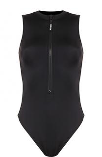 Слитный купальник с вырезом на молнии Calvin Klein