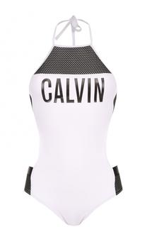 Слитный купальник с открытой спиной Calvin Klein