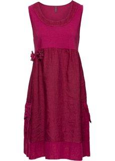 Платье из различных материалов (красная ягода) Bonprix