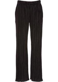 Плиссированные брюки (черный) Bonprix