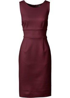 Платье из материала под неопрен (кленово-красный) Bonprix