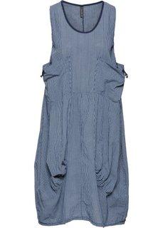 Платье-баллон (синий/белый в полоску) Bonprix