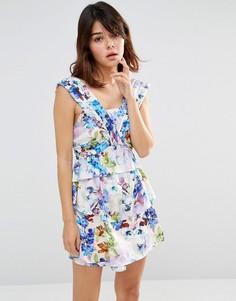 Панельное платье мини J.O.A - Фиолетовый