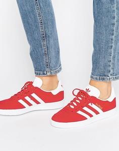 Женские красные замшевые кроссовки унисекс adidas Originals Gazelle - Красный