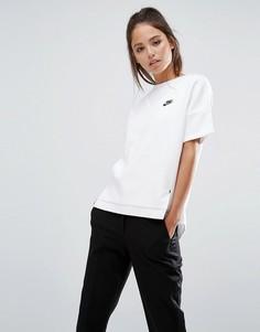 Свободный топ Nike Premium - Белый