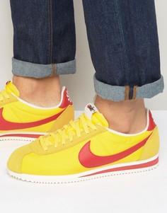 Светло-коричневые нейлоновые кроссовки Nike Classic Cortez Aw 844855-750 - Рыжий
