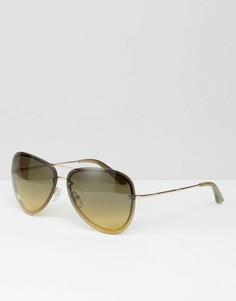 Золотистые солнцезащитные очки-авиаторы Calvin Klein Sun - Золотой