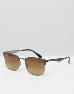 Солнцезащитные очки-клабмастеры Ray-Ban 0RB3538 - Коричневый