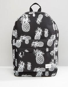 Рюкзак с принтом ананасов Spiral - Черный