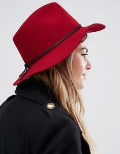Мягкая фетровая шляпа Brixton Wesley - Красный