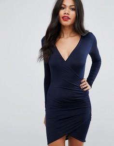 Облегающее платье Girls On Film - Темно-синий