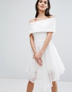 Платье с вышивкой ришелье The 8th Sign - Белый