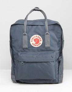 Темно-серый рюкзак объемом 16 литров Fjallraven Kanken - Серый