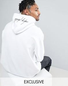 Худи с вышивкой белого цвета Mennace - Белый