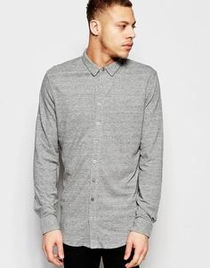 Рубашка классического кроя из ткани пике ADPT - Серый