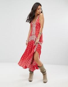 Платье-комбинация Free People Faithfully Yours - Красный