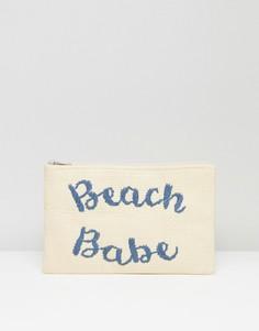 Соломенный клатч с вышивкой Beach Babe South Beach - Мульти