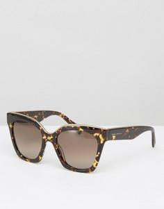 Большие черепаховые солнцезащитные очки кошачий глаз Marc Jacobs - Коричневый
