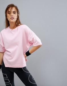 Розовый спортивый топ с коротким рукавом Nike Training Dry - Розовый