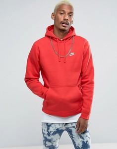 Красный худи с логотипом Nike Club 804346-657 - Красный