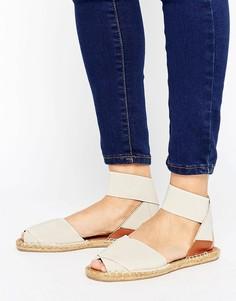 Сандалии с ремешком вокруг щиколотки и открытым носком ALDO - Белый