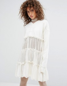 Многоярусное платье Puma X Fenty - Белый