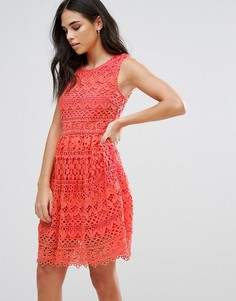 Кружевное платье мини Liquorish - Розовый