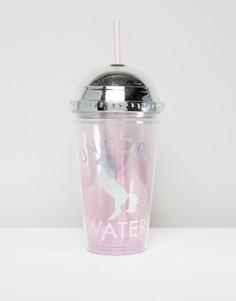 Кружка в форме единорога с соломинкой New Look - Розовый