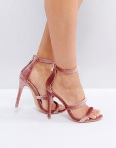 Пыльно-розовые босоножки на каблуке Public Desire - Розовый