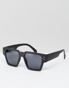 Квадратные солнцезащитные очки в черной оправе AJ Morgan - Черный