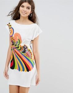 Платье-футболка с принтом Jasmine - Белый