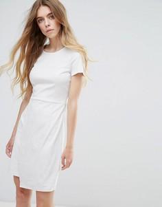 Платье с запахом из искусственной замши Vila - Кремовый