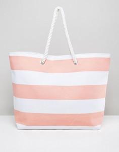 Пляжная сумка с оранжевыми полосками South Beach - Оранжевый
