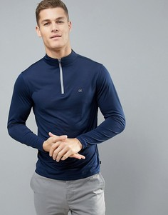 Топ с молнией Calvin Klein Golf Tech - Темно-синий