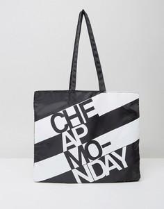 Сумка-шоппер в полоску Cheap Monday - Черный