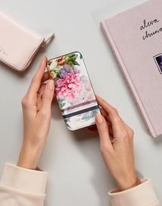 Кейс для Iphone 7 с принтом роз и зеркалом Ted Baker - Мульти