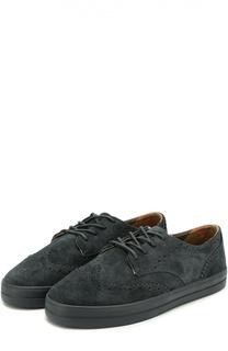 Замшевые туфли с брогированием Burberry