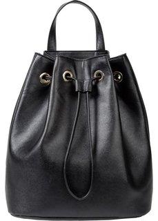Мягкая сумка-рюкзак (черный) Bonprix